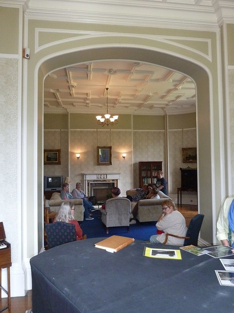 The living room at Gregynog