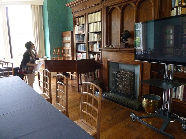 The library at Gregynog