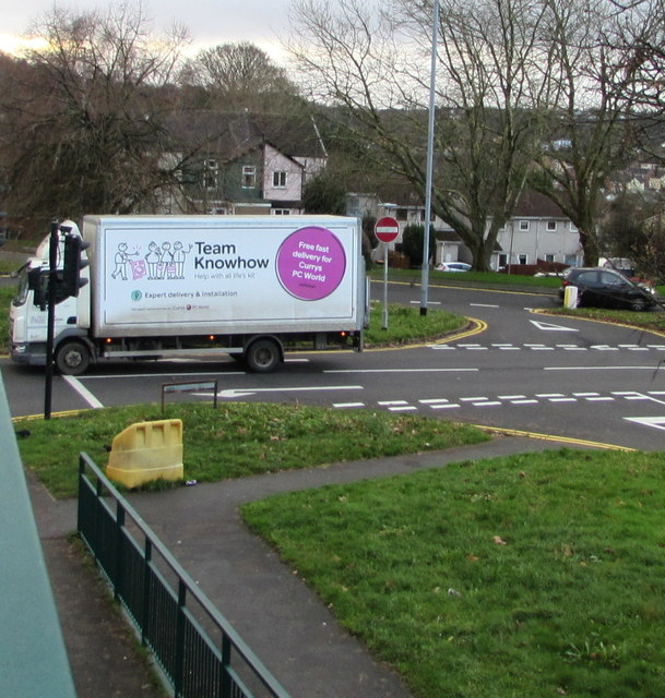 Team Knowhow lorry, Russell Drive, Malpas, Newport
