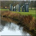 SE2812 : Yorkshire Sculpture Park, 'Promenade' by Alan Murray-Rust