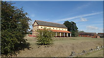 SJ5608 : Wroxeter Roman City - Roman Villa reconstruction by Colin Park