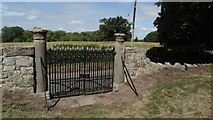 SJ5608 : Wroxeter - Roman columns on church gate by Colin Park