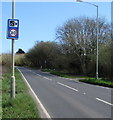 SS5889 : Combined speed camera and speed limit sign, Northway, Bishopston by Jaggery
