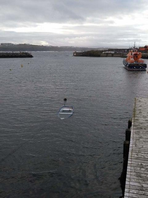 Sunken dinghy Portrush