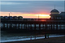 TQ8109 : Hastings Pier at sunset by Oast House Archive