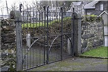 SH5638 : Harbour gates to Greaves and Oakleys wharf by Arthur C Harris