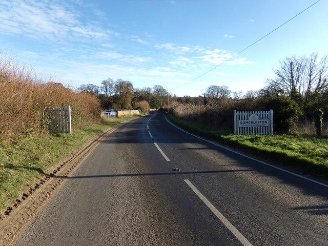Entering Somerleyton on the B1074 St Olaves Road