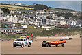 SS4543 : Lifeguards on Woolacombe Beach by Ian Capper