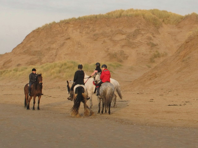 Horse riders on the beach at Formby, Boxing Day