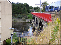 NS3421 : River Ayr railway viaduct by Thomas Nugent