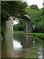 SK0417 : Bridge across the canal near Rugeley, Staffordshire by Roger  Kidd