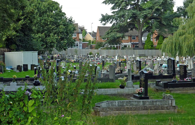 Cemetery in Rugeley, Staffordshire