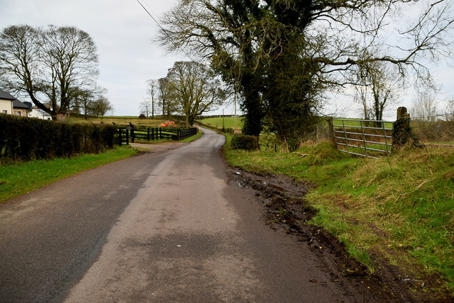 Muddy along Glenhoy Road