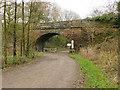 SJ9361 : Bridge over the former railway near Rudyard Lake by Stephen Craven
