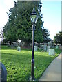 SO5815 : Lamp at St. Mary the Virgin Church (English Bicknor) by Fabian Musto
