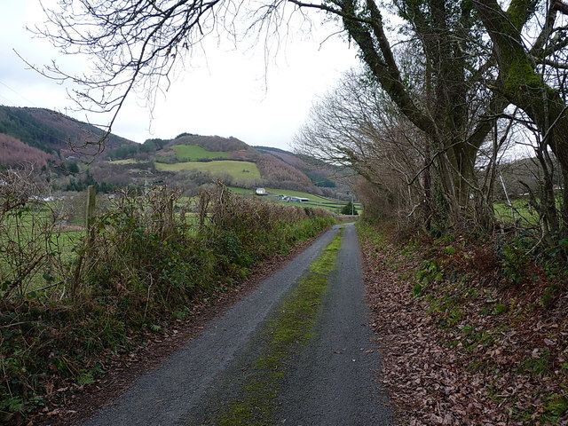 The lower lane in Dollwen, Christmas Day 2018