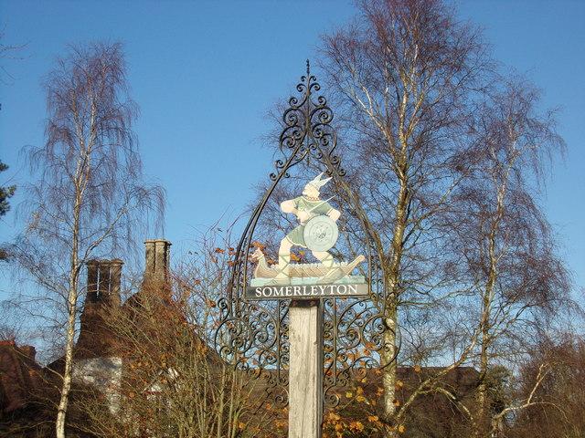 Somerleyton Village sign