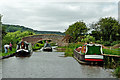 SK0220 : Trent and Mersey Canal near Bishton in Staffordshire by Roger  Kidd