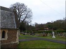 TQ0165 : Holy Trinity, Lyne: churchyard (III) by Basher Eyre