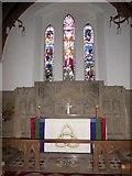 TQ0165 : Holy Trinity, Lyne: altar by Basher Eyre