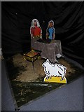 TQ0165 : Holy Trinity, Lyne: crib scene by Basher Eyre