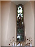 TQ0165 : Holy Trinity, Lyne: stained glas window (b) by Basher Eyre