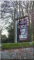 TM4897 : Somerleyton Cycles sign by Adrian Cable