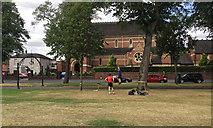 SP3165 : Teaching Tightrope, Pump Room Gardens, Royal Leamington Spa by Robin Stott