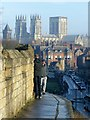 SE5951 : York Minster from the walls near York Station by Alan Murray-Rust