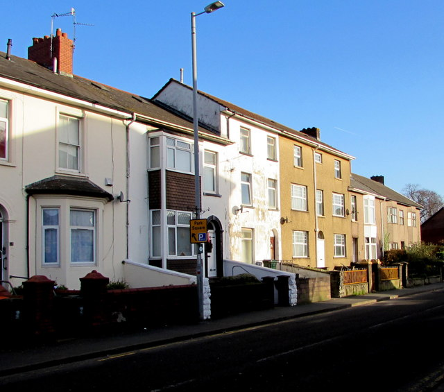 Three-storey houses near St Woolos Hospital, Newport