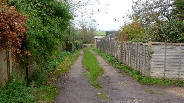 Track to open fields