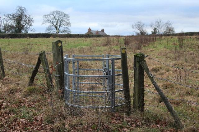 Gate on path to Twynfilkins Farm