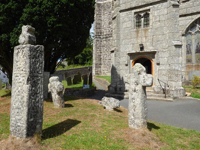 Church of St Neot - three crosses