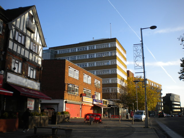 Buildings on High Road, Wembley