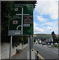 SN9668 : Directions sign alongside the A470, Rhayader by Jaggery