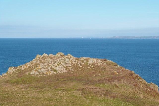 Looking Northwest from Bolt Tail, Devon