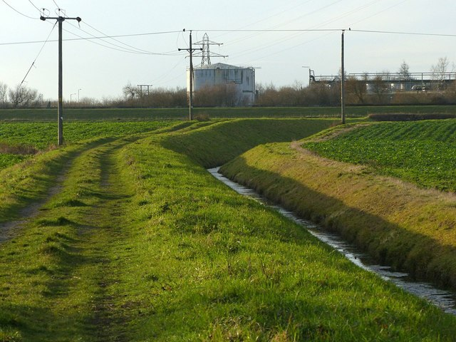 Drainage channel and farm track