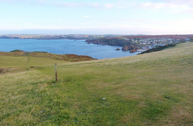 SW Coast Path on Bolt Tail, South Devon