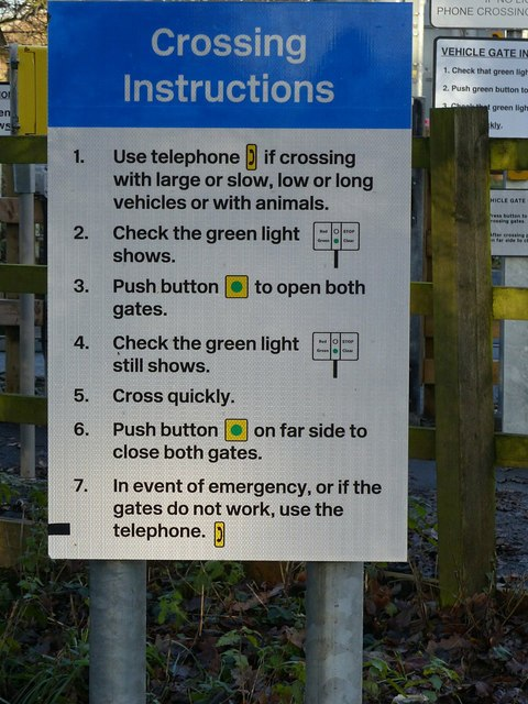 Jacky Duffin Wood level crossing – instructions