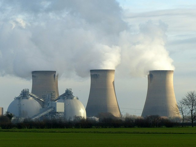 Cooling towers and biomass storage