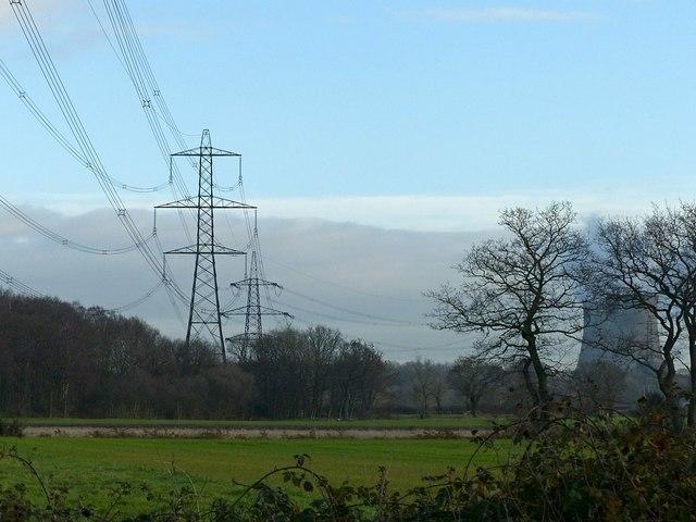Power lines near Barlow