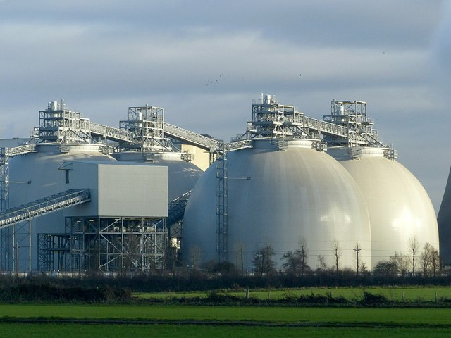 Biomass silos, Drax Power Station