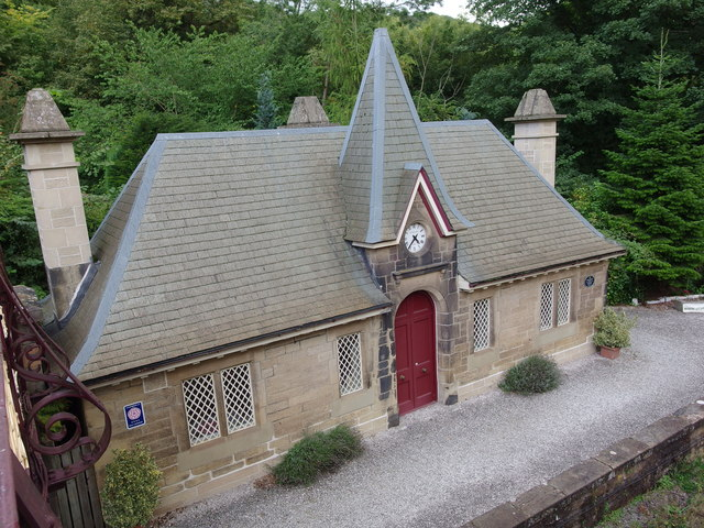 Cromford Railway Station - redundant platform and waiting room