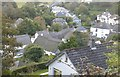 SX6739 : Looking down on to the rooftops of Inner Hope village from the SW coast path by Derek Voller