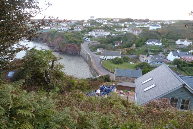 Looking out over the twin villages of Inner Hope and Outer Hope from the SW coast path