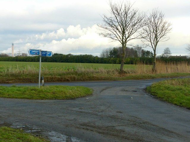 The junction of Hirst Road and Coates Marsh Lane