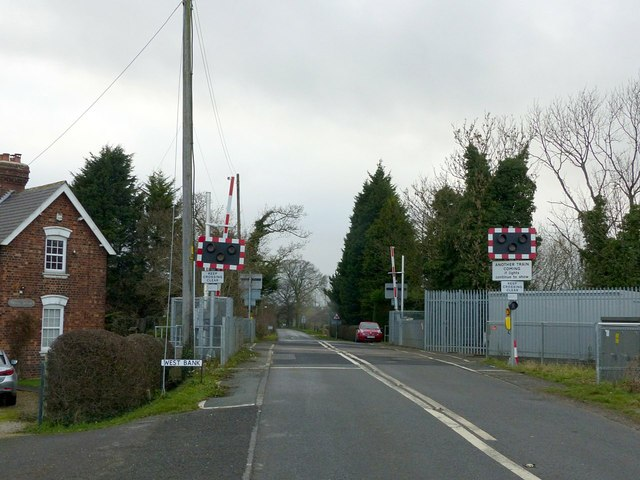West Bank Hall level crossing