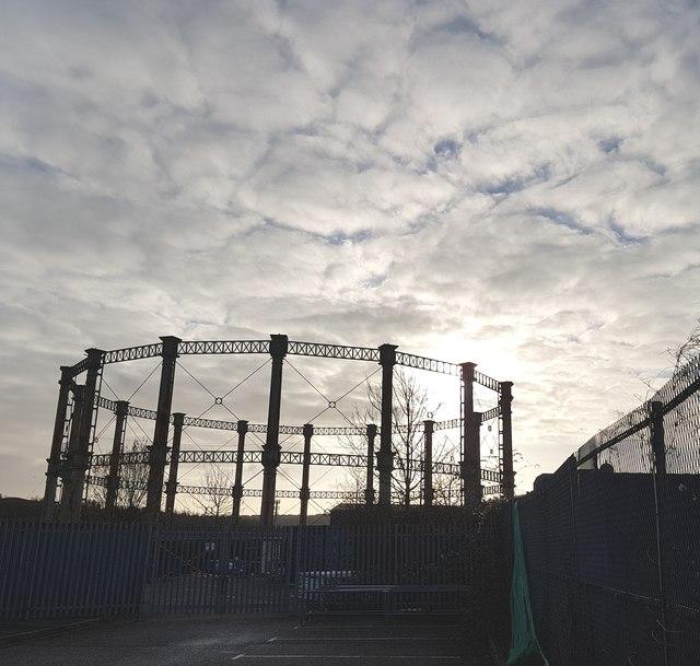 Gas Holder at British Gas Grangetown Gas Works