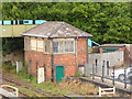 SX0152 : St Austell station - former signal box by Stephen Craven