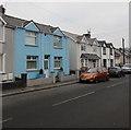 ST1494 : Blue house, Penallta Road, Ystrad Mynach by Jaggery